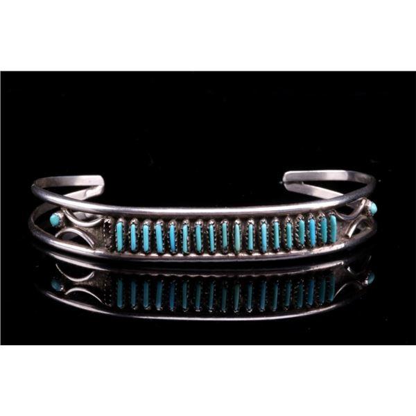 Navajo Fred Harvey Silver & Turquoise Bracelet