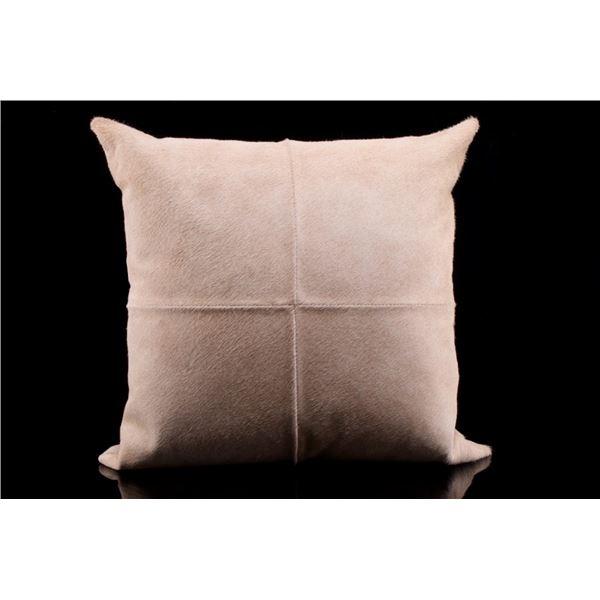 Brazilian Canchim Charolais Cowhide Pillow