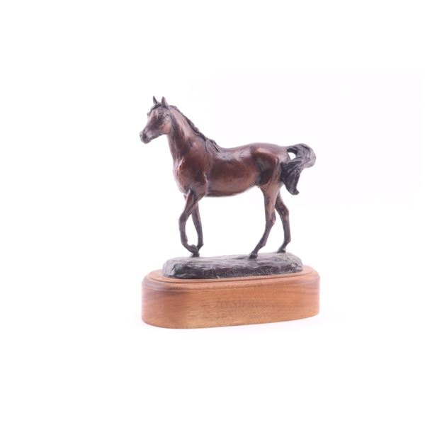 The Arabian Horse Bronze by Montanan Dwyer, Anna