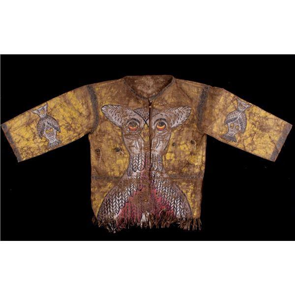 Pueblo Indian Polychrome Painted Shirt c.1890-1910