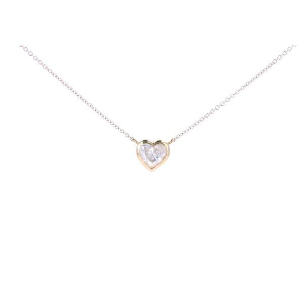 Brand New 1.03ct Heart Diamond 14k Gold Necklace