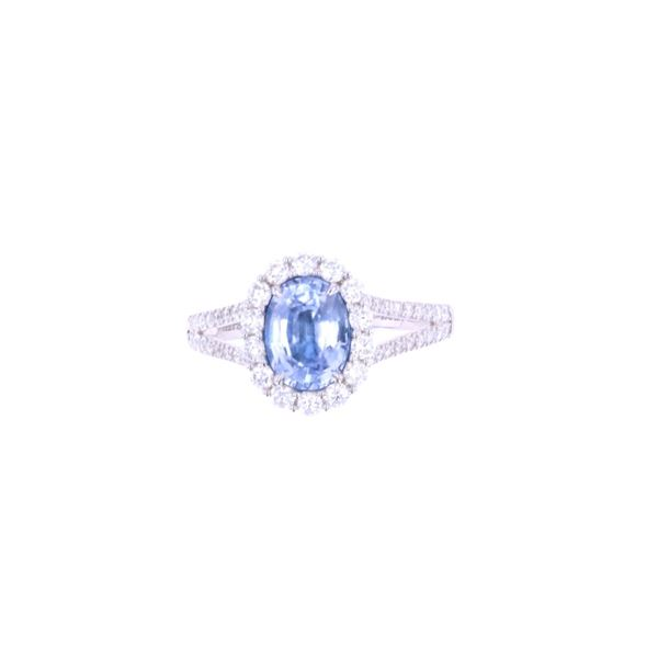 Montana Corn Blue Sapphire & Diamond 18k Gold Ring