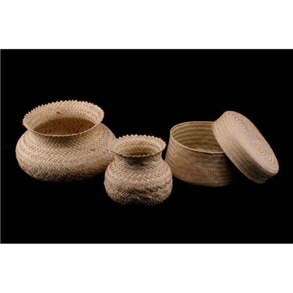 Tarahumara Indian Double Weave Basket Collection