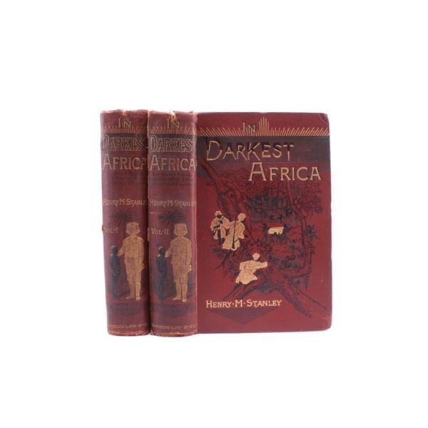 """1st Edition 1890 """"In Darkest Africa"""" By Stanley"""
