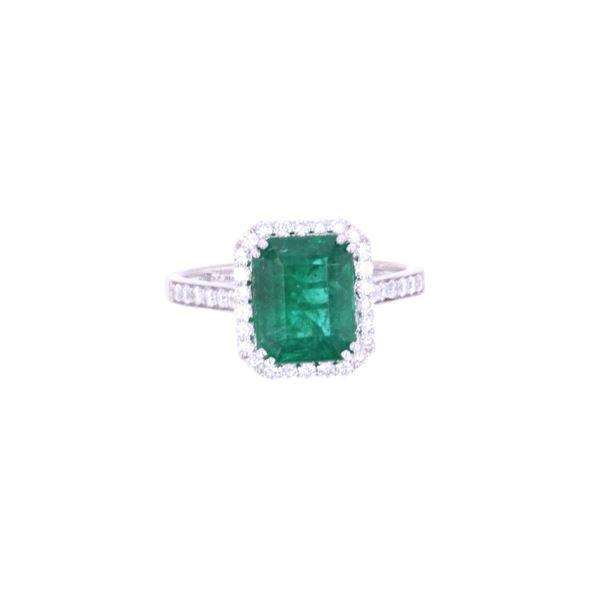 GIA Certified 2.53ct Emerald & Diamond 18k Ring