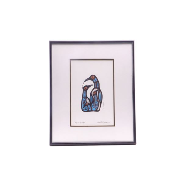 Ojibway Norval Morrisseau Bird Family Card Series