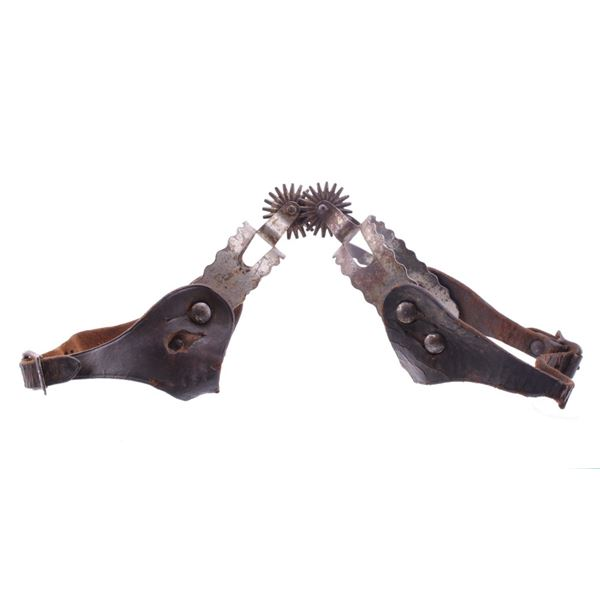 19th Century Hand Forged Steel Vaquero Spurs