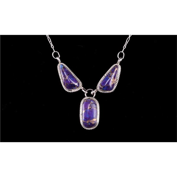 Navajo Herbert Tsosie Silver & Turquoise Necklace