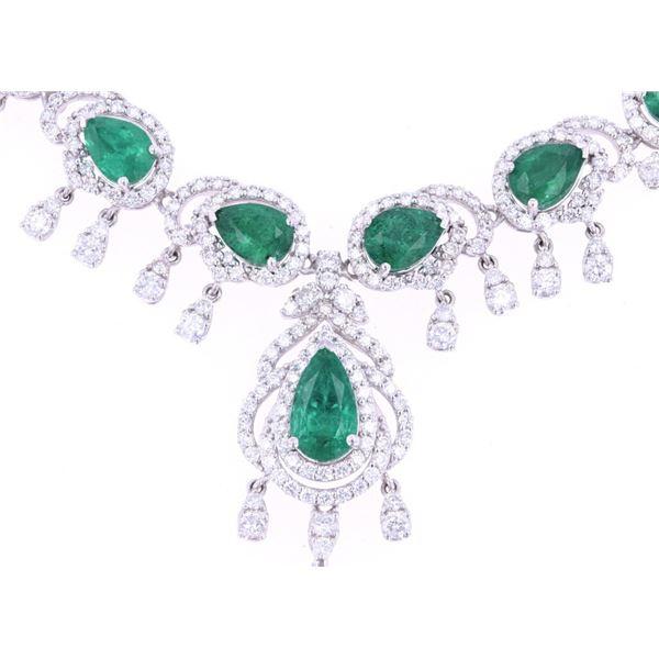 13.27cts Emerald & Diamond Necklace $79K Appraisal