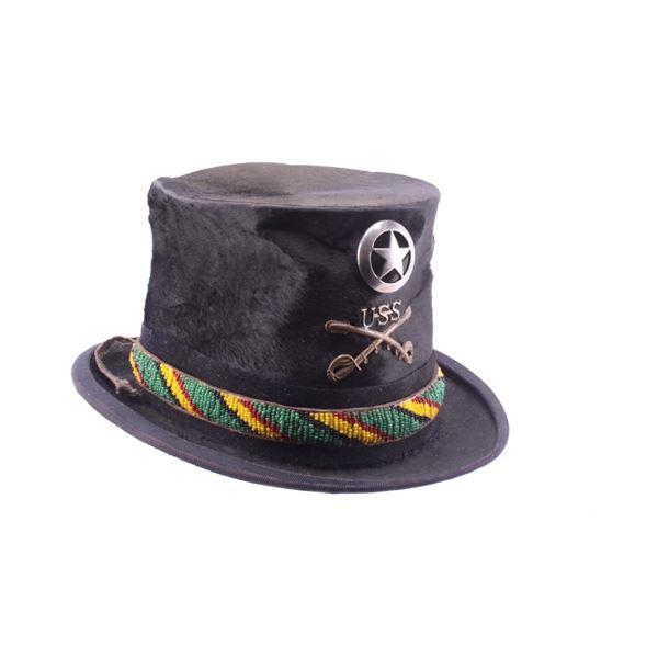 1800's Top Hat w/ U.S. Indian Scout Emblem