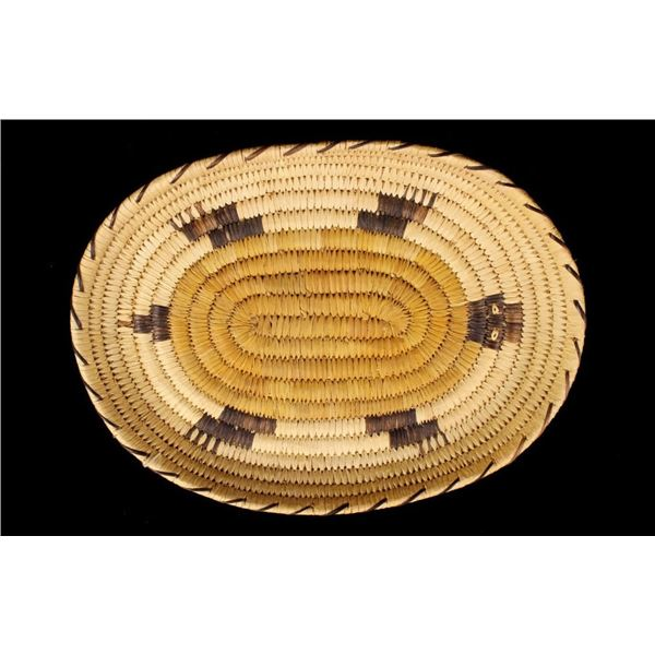 Papago Indian Hand Woven Coil Basket c. 1979