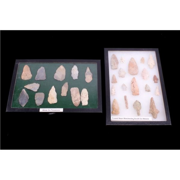 Collection of Pre Historic Arrowheads & Scrapers
