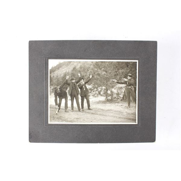 Original Staged Fugitive Arrest Photograph c. 1915