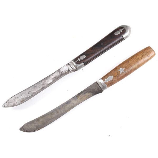 Pewter Inlaid Trade Knives Circa 19th Century