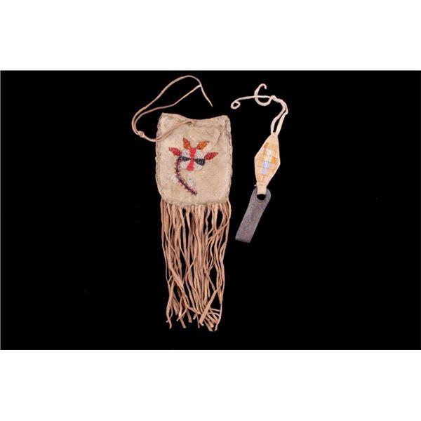 Chippewa Strike-a-Lite Bag w/ Quilled Striker 19th