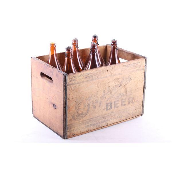 Missoula, MT Highlander Beer Crate & 64oz. Bottles