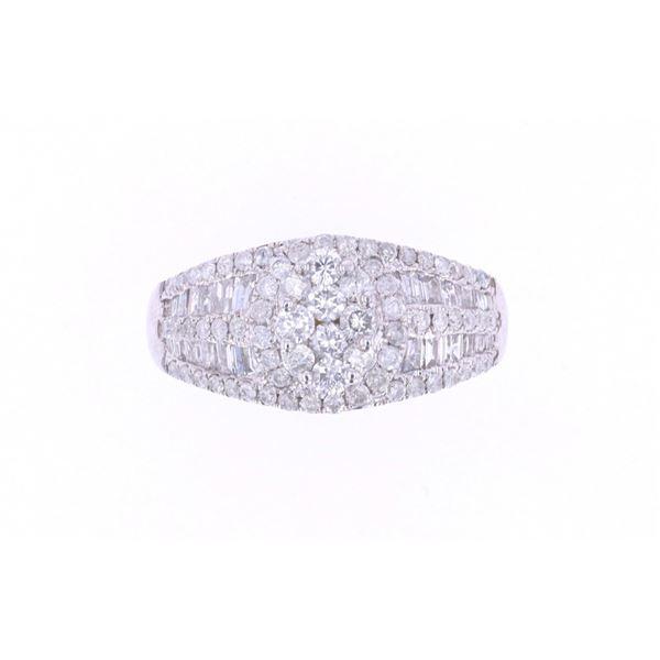 Brilliant Baguette Diamond 14k White Gold Ring