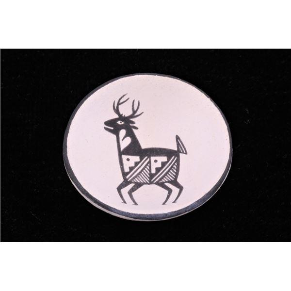 Acoma Pueblo D. Reano Deer Micro Pottery Plate