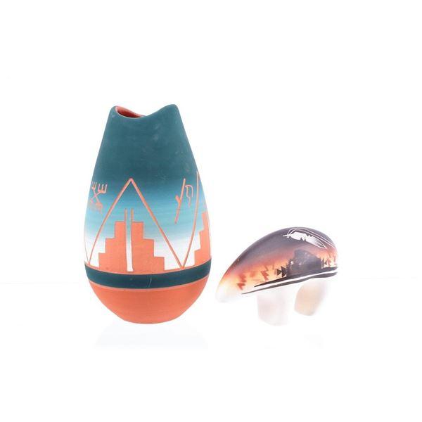 Lakota Sioux Ceramic Polychrome Pottery Collection
