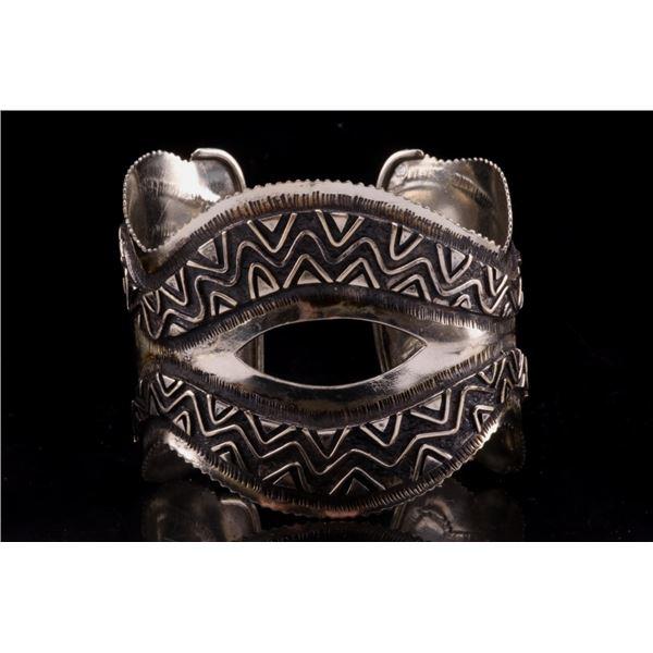 Armand American Horse Silver Snake Cuff