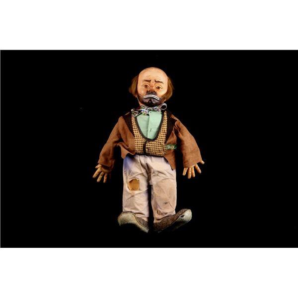 Emmett Kelly Weary Willie Cloth Doll c. 1950's