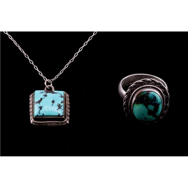 Navajo Sterling Silver Necklace & Ring Collection