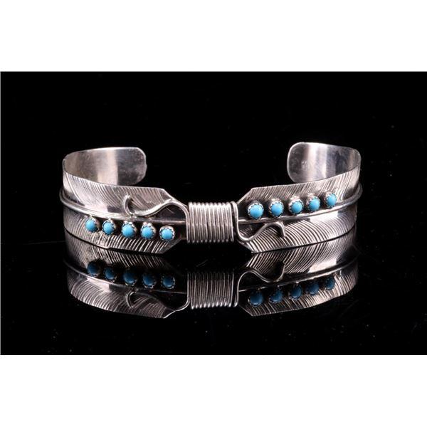 Navajo Bobby Begay Silver & Turquoise Bracelet