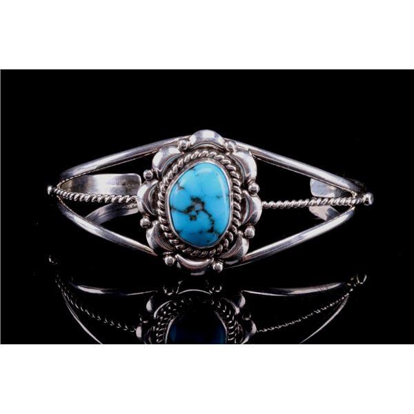 Navajo Larry Ruiz Silver & Turquoise Bracelet