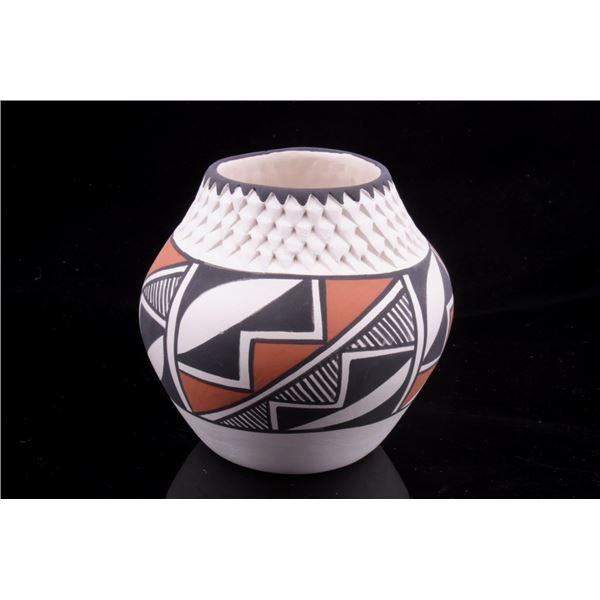 Signed Acoma Polychrome Pottery Jar c. 1950's