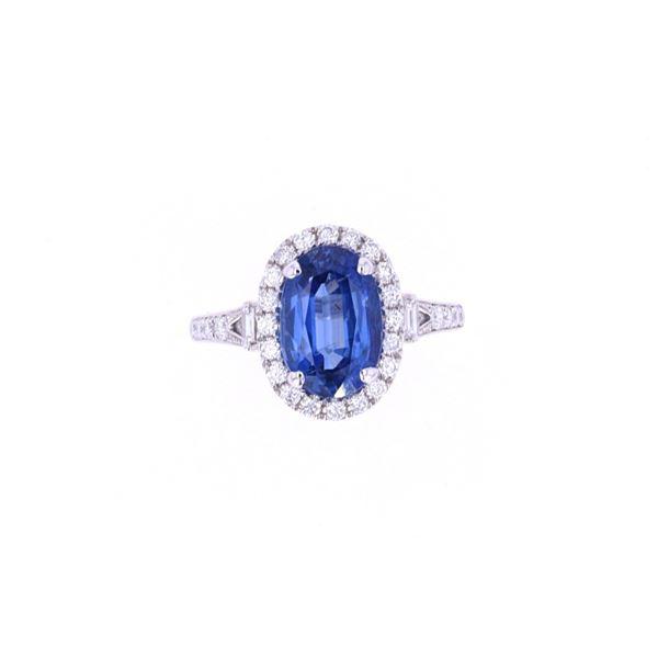 Opulent Kyanite & Diamonds 14k White Gold Ring