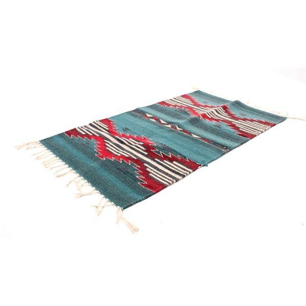 Zapotec Oaxaca Banded Saltillo Rug c. 1960's