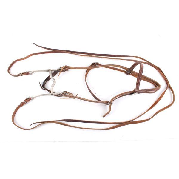 Iron Curb Bit W/ Genuine Leather Headstall