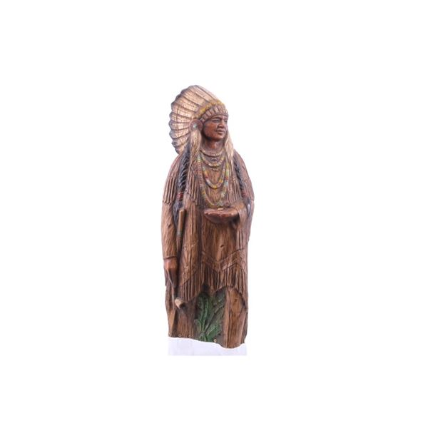 Resien Wood Style Indian Chief Statue