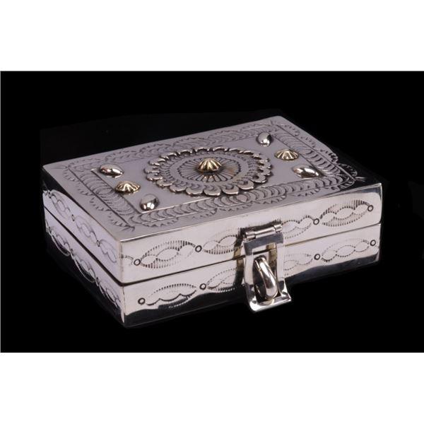 Armand American Horse Alpaca Silver Trinket Box