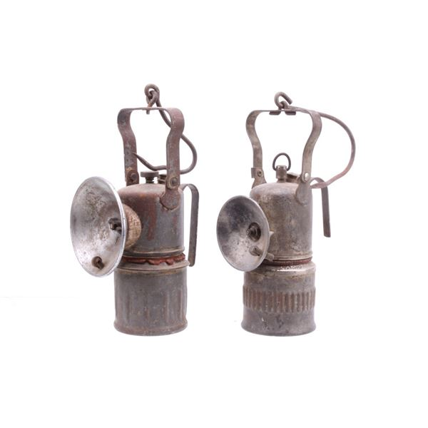 Lamp Dewar Carbide Miners Lamps c. Early 1900s