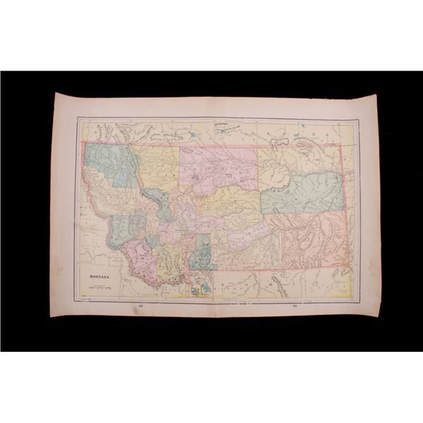 1800's Map of Montana Utah & Washington
