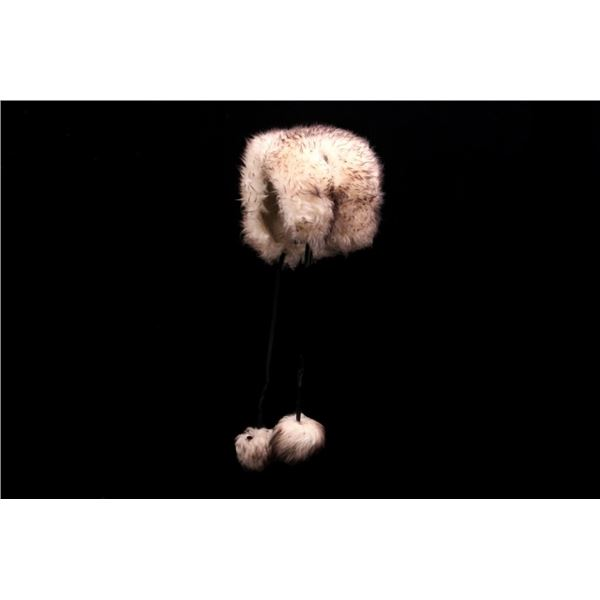 Angora Fur & Tail Tassel Hat circa Early 1900's