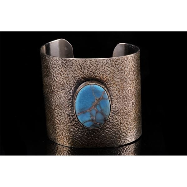 Armand American Horse Silver Turquoise Large Cuff