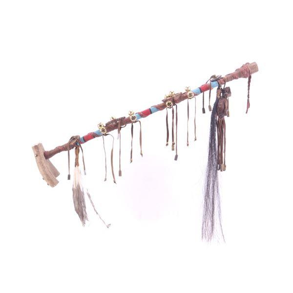 Apache Beaded Ceremonial Antler Tine Walking Stick
