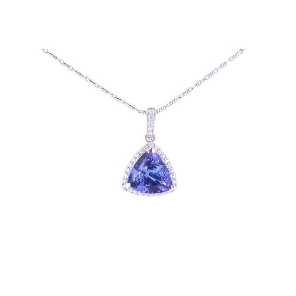 5.81 cts. Tanzanite & VS2 Diamond 14K Necklace