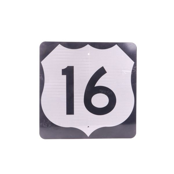 U.S. Route 16 Marker Sign