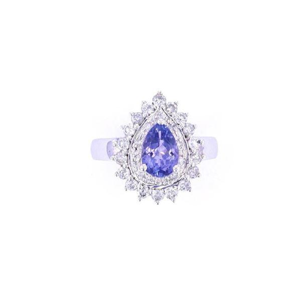 Opulent Sunburst Tanzanite & Diamond 14k Gold Ring