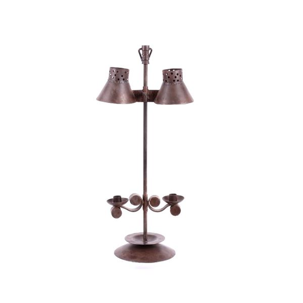 Wrought Iron Candlestick Holder c. Early 1900's