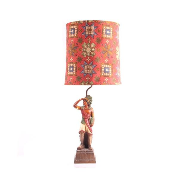Native American Indian Table Lamp & Shade