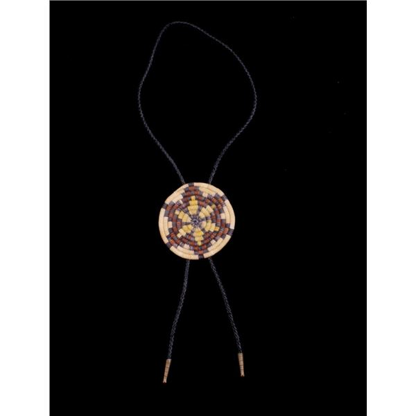 Hopi Indian Hand Woven Disk & Bolo Tie