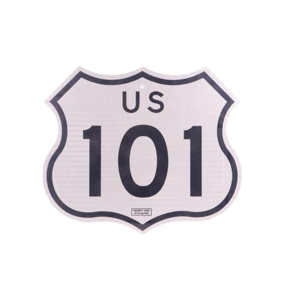 Large Metal US 101 Highway Sign