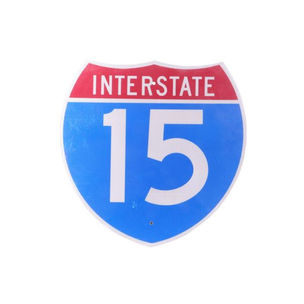 Interstate 15 Highway Sign