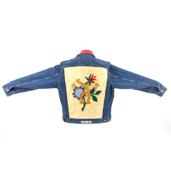 Jensen Smith Denim Jacket With Leather Applique