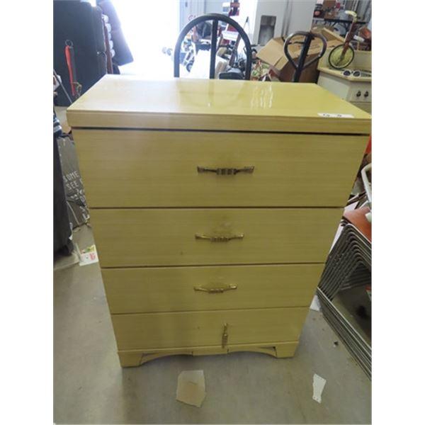 "Dresser 4 Drawer 43""H 30""W 17"" D"