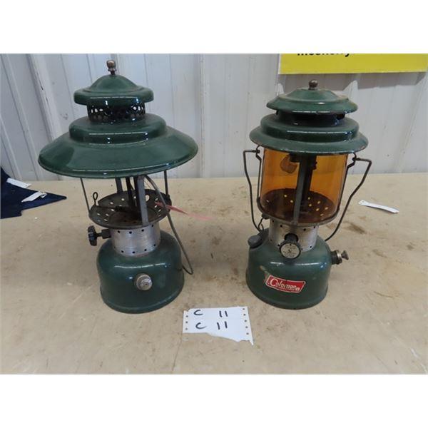 2 Coleman Lanterns 1) Model 220 F & Model 228 E